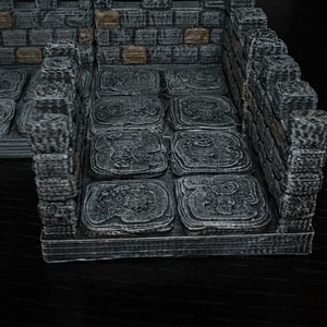 OpenForge Edge Crenelated Corridor 3D Model