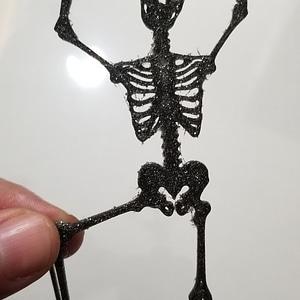 Halloween Skeleton Silhouette 3D Model
