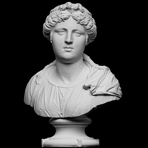 Bust of a young woman 3D Model