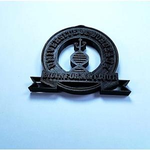 Bioinformatics Master Bordeaux Logo 3D Model