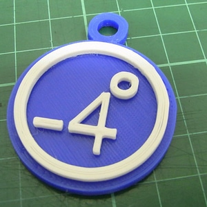 86Duino -4 degrees key ring 3D Model