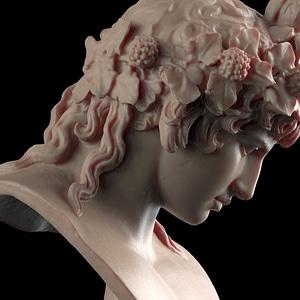Bust of Antinous as Dionysus 3D Model