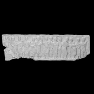 Front relief from a sarcophagus 3D Model