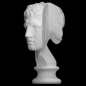 Fragmentary head of Hercules (from the Lansdowne Herakles) 3D Model