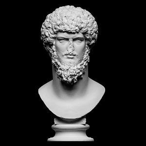 Colossal portrait of Lucius Verus 3D Model