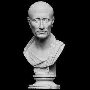 Portrait of Julius Caesar, The Green Caesar 3D Model