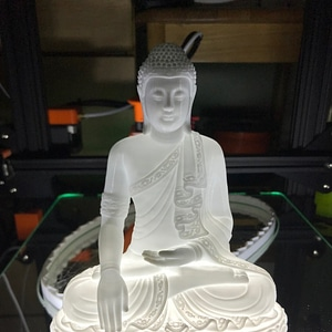 Buddha LED Light Base 3D Model