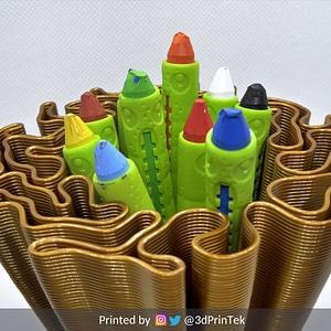 Wavy Penholders Collection 3D Model