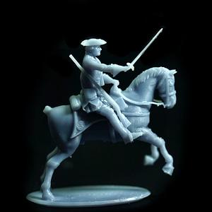 British Dragoon Attacking 3D Model