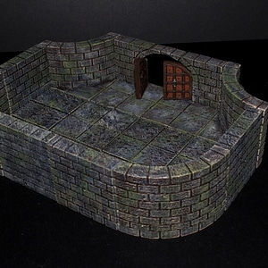 Cut Stone Curved Tiles 3D Model