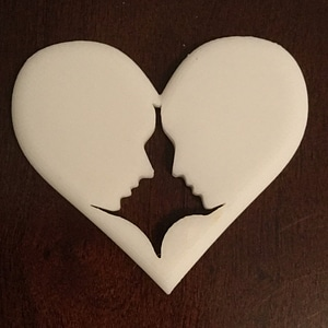 Heart Couple 3D Model