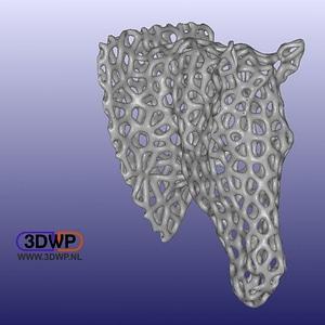 Voronoi Style Horse Head 3D Model