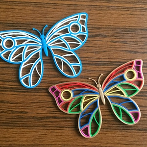 Quilling Butterfly 3D Model