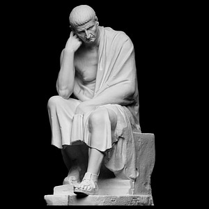 Statue of a seated philosopher 3D Model