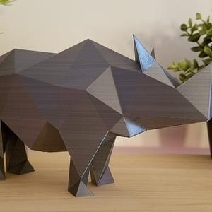 Low Poly Rhino 3D Model