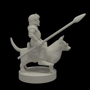 Halfling Calvary 3D Model