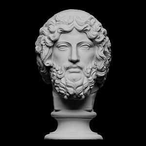 Bearded Deity, Zeus 3D Model