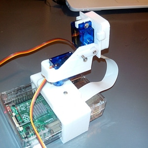 Raspberry Pi Camera Tilt Mount 3D Model