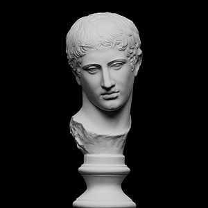 From a statue of Diskoforos or Diskos carrier 3D Model