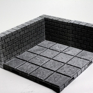 OpenForge Cut-Stone OpenLOCK Long Walls 3D Model