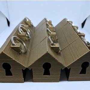 Light Up House Keyring 3D Model