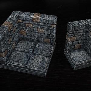 OpenForge Stone Dungeon Edge Corner 3D Model