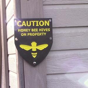 Caution Honeybee sign 3D Model