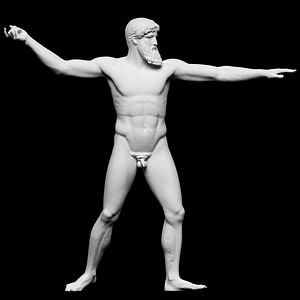 Artemision Zeus 3D Model