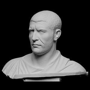 Portrait of Marcus Julius Philippus (Philip the Arab) 3D Model