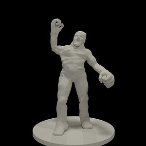 Clay Golem 3D Model
