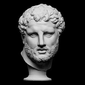 Head from the Vatican Apoxyomenos 3D Model