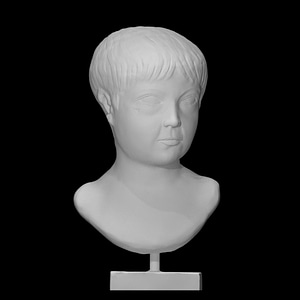 Marble portrait bust of a boy 3D Model