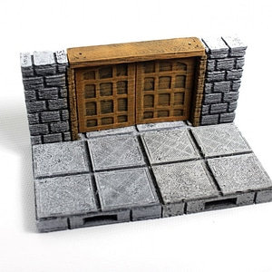 OpenLOCK Cut-Stone Square Doors 3D Model