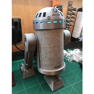 R2D2 v3.0 Amazon Echo Mount 3D Model