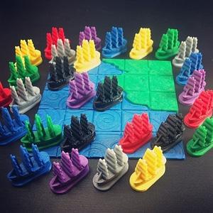 Galleon Board Game Piece 3D Model