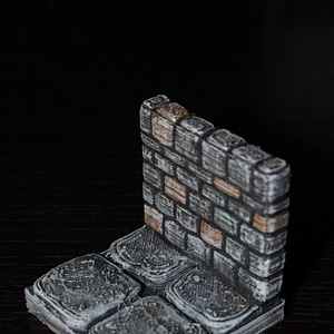 OpenForge Stone Dungeon Walls 3D Model