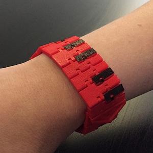 Piano Kinematic Bracelet 3D Model