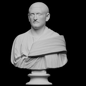 Bust of a man, probably Gordianus Africanus 3D Model