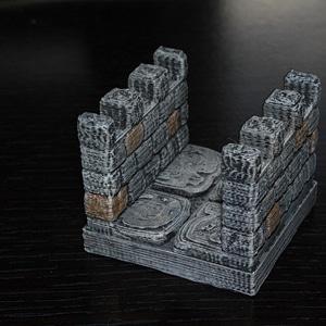 OpenForge Crenelated Corridor 3D Model