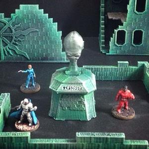 Alien Memorial Bust 3D Model