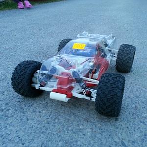 OpenRC 1:10 4WD Truggy Concept R/C Car 3D Model