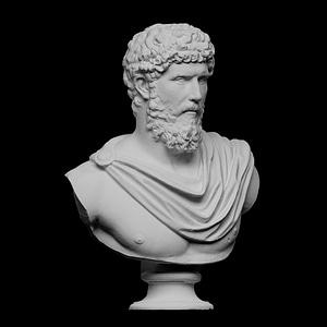 Portrait of Lucius Auelius Verus 3D Model