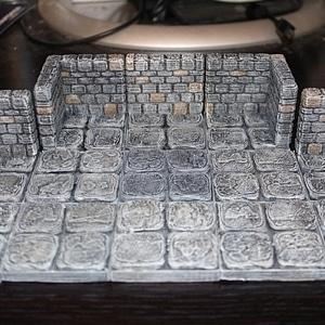 OpenForge Stone Dungeon Corner 3D Model