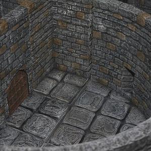 OpenForge Stone Barbican 3D Model