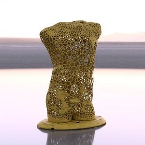Voronoi Style Male Torso 3D Model