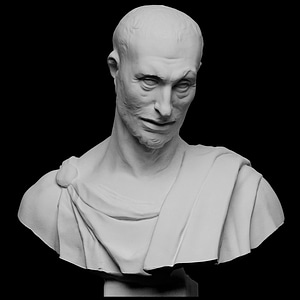 Bust from prophet statue, Lo Zuccone 3D Model