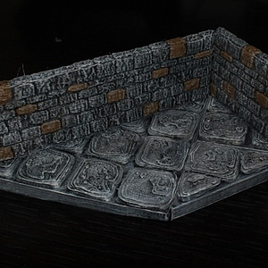 OpenForge Stone Dungeon Diagonal Walls 3D Model