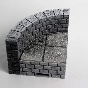 OpenForge Cut-Stone OpenLOCK Curved Risers 3D Model