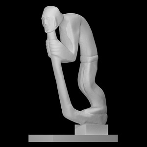 Hunchback Leaning on Staff 3D Model
