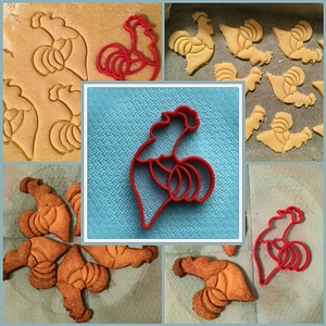 Cookie Cutter Rooster 3D Model
